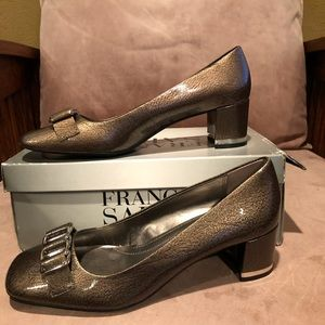Franco Sarto Women's Leather Pumps Pewter Sz 8.
